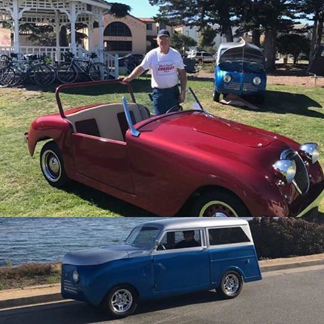 My grandparents are cooler than yours #winning. Grandpa winning best show in Monterey this weekend for BOTH of his Crosley's! Who else's grandparents rebuild hot rods and old cars from literally the ground up. If he can't find the part, he makes it himself 😯 #crosley #contest #digthecar #monterey #montereycarweek #hotrods #hotrod #myfamily #myfamilyrocks #grandparents #80andfabulous #fromthegroundup #mgmidget #bestinshow #dtk #digthekid #dtk #montereylocals - posted by Dig…