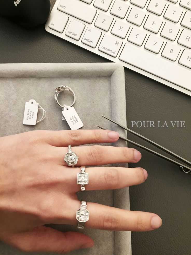 Currently Baguette Mood We love to play Baguette shaped Diamond~ Email: designer@pourlavie.com