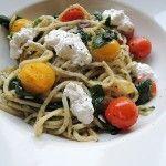 Recept: Simpele pasta met tomaat, spinazie en ricotta