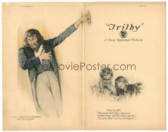 Trilby (1923) Stars: Andrée Lafayette, Creighton Hale, Arthur Edmund Carewe, Philo McCullough, Martha Franklin, Gertrude Olmstead ~  Director: James Young