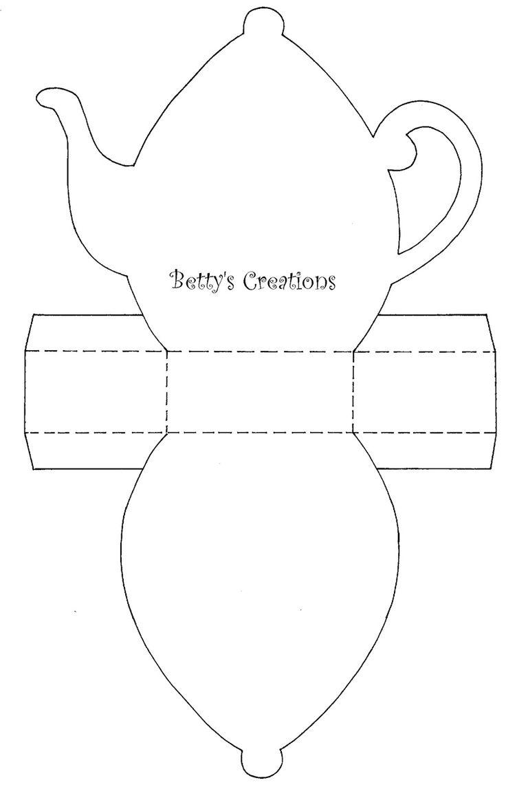 Чайник из бумаги своими руками шаблоны