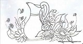 Nosso canto florido: Riscos de jarros,chaleiras etc