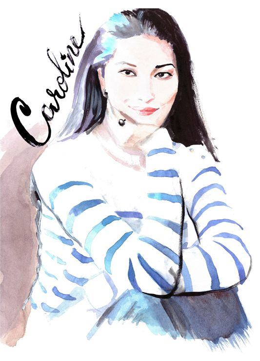 Caroline Issa  /   illustration, by Irina Sibileva #CarolineIssa #IrinaSibilevaIllustration #IrinaSibilevaDraws #fashionillustration #watercolor