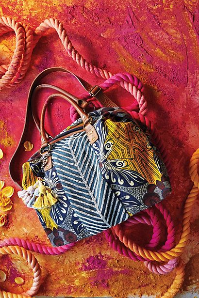 Palm Print Weekender #anthropologie