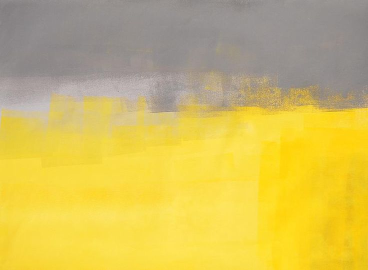 A Simple Abstract   Grey And Yellow Abstract Art Painting Painting By  CarolLynn Tice