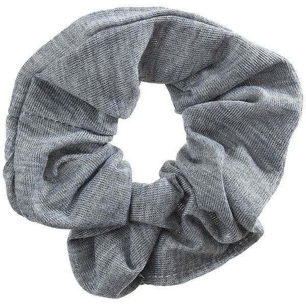 TOPSHOP Grey Hair Scrunchie ($10) ❤ liked on Polyvore featuring accessories, hair accessories, fillers, hair, grey and scrunchie hair accessories
