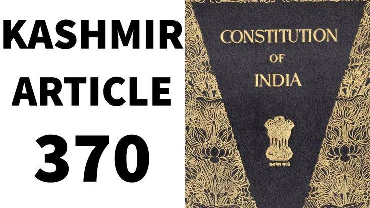 Article 370 - Kashmir - CLAT 2017 Legal GK - UPSC/IAS/PSC