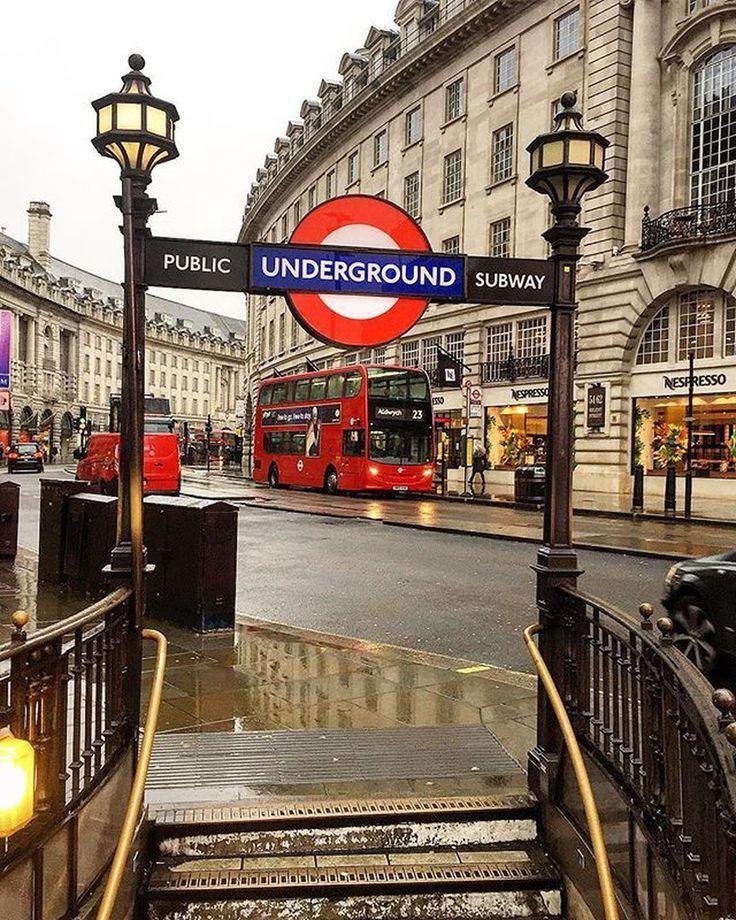 The underground tube in London, England.