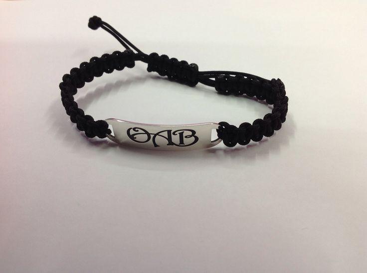 Family initial daddy bracelet