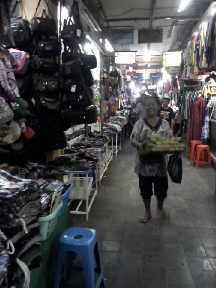 The famous traditional market in Jogjakarta