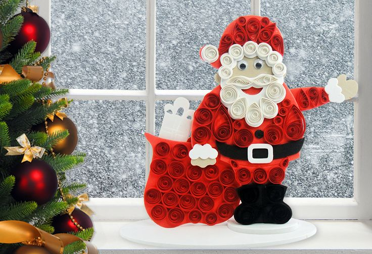santa claus craft ideas santa claus craft fascinating quilling projects 5362