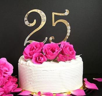 25th Wedding Cake Anniversary