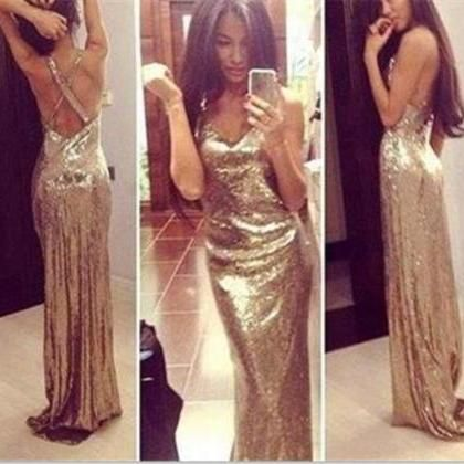 sexy sequins long prom dress 2017, #promdresses2017, #partydresses, #sequinspromdress