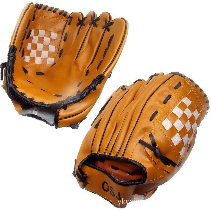 Sarung Tangan Baseball Softball Praktek Peralatan Terbuka Olahraga Coklat Hitam Ukuran 10.5/11.5/12.5 Tangan Kiri untuk Pria Dewasa wanita Pelatihan