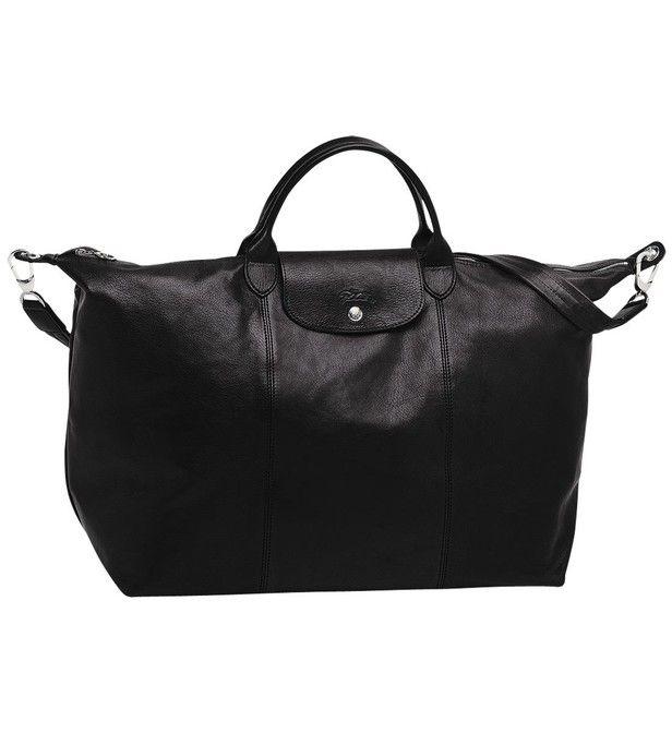 Sac de voyage L Le Pliage Cuir | Travel bags, Bags, Longchamp
