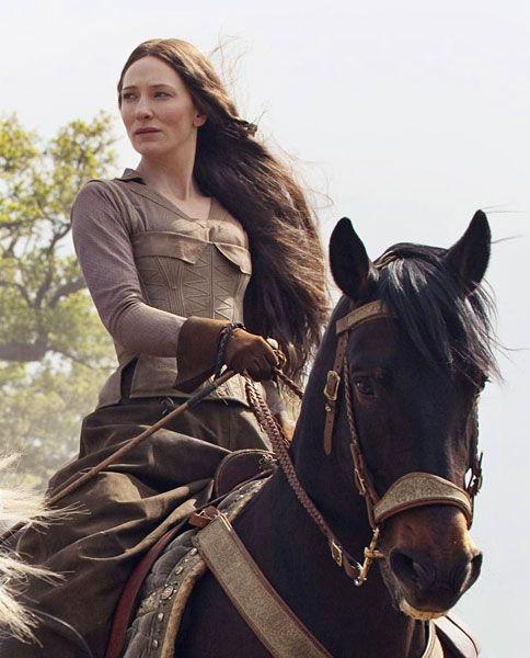 Cate Blanchett as Maid Marian in Robin Hood (2010).  41 when filmed.