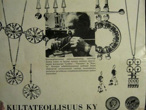 1968 Kultateollisuus Ky, Jorma Laine ad