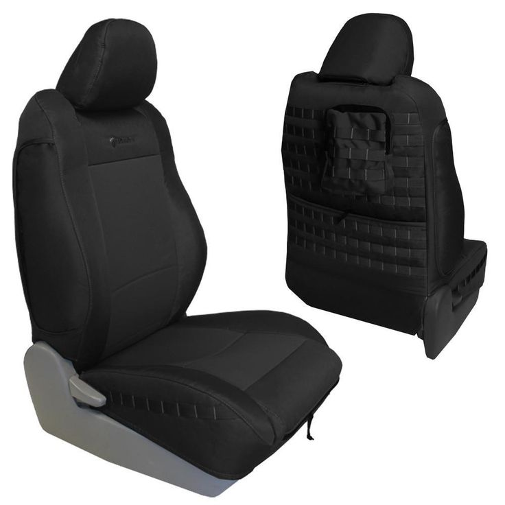 Toyota Tacoma Seat Covers 09-15 Tacoma TRD Front Black/Black Tactical Series Pair Bartact