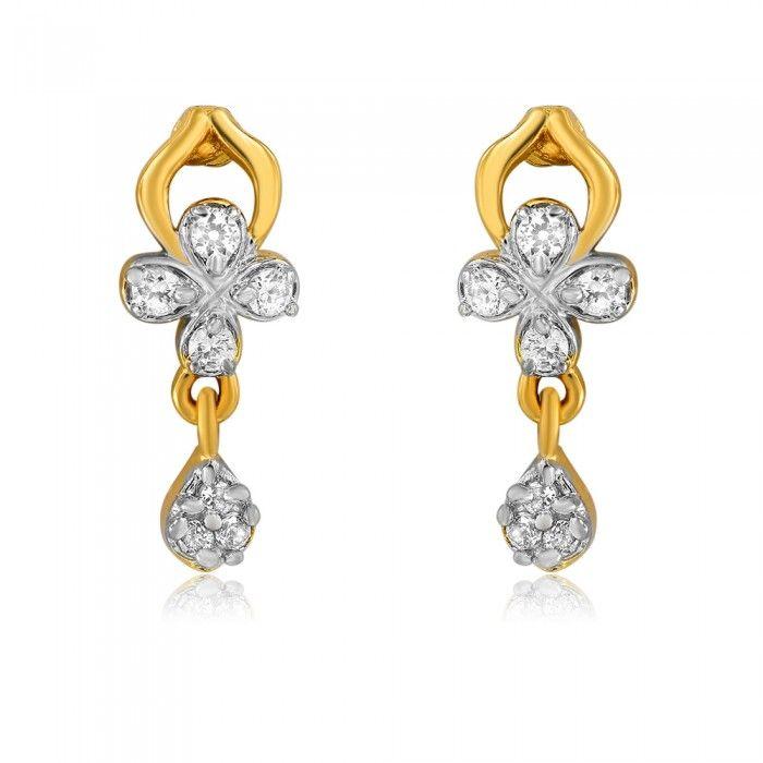 Lovely Solemn Love CZ Diamond Earrings   High5Store.com