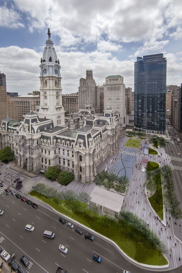 The New Dilworth Park In Front Of City Hall In Philadelphia Philadelphia City Hall Philadelphia Skyline City Hall