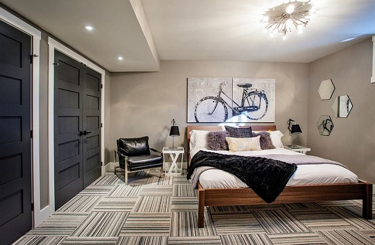 Gorgeous basement bedroom with a trendy style Easy Tips To Help Create The Perfect Basement Bedroom