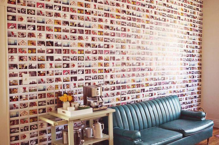 funky wallpaper via A Beautiful Mess