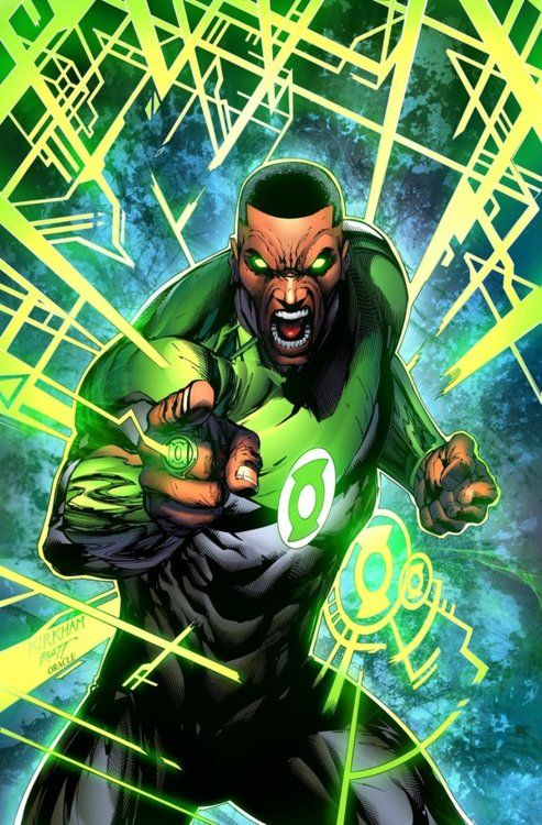 John Stewart as Green Lantern // artwork by Tyler Kirkam and Mystic Oracle