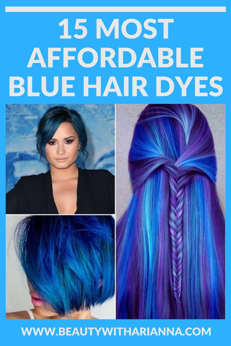 Read on to find out about the 15 most affordable blue hair dyes. Blue Hair | Blue Hair Dye | Hair Style | Hair Cuts | Hair Dye | Beauty | All Things Beauty | Drugstore Beauty.