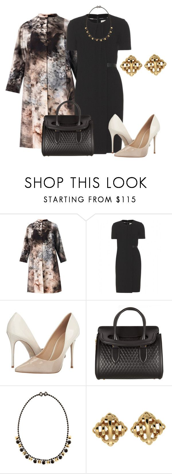 """Dreams that you could feel, becoming real"" by nikita-rae ❤ liked on Polyvore featuring Valentino, Burberry, Massimo Matteo, Alexander McQueen, Tom Binns and Valentin Magro"