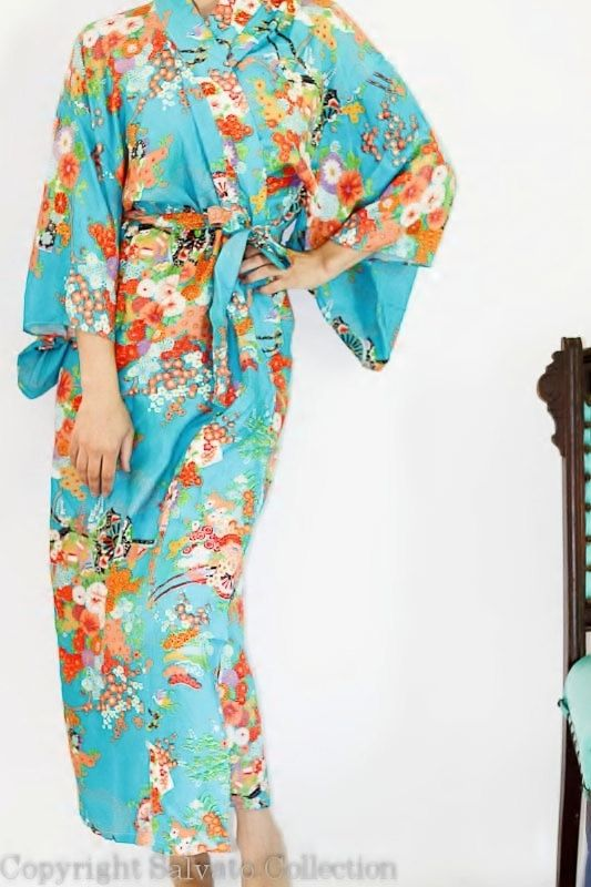 Vintage Japanese Kimono Dress Gown Robe // ONE SIZE by Amanda Deare