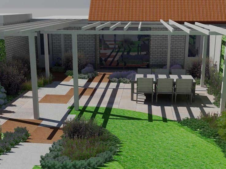 3D tuinontwerp van romantische achtertuin in Apeldoorn.