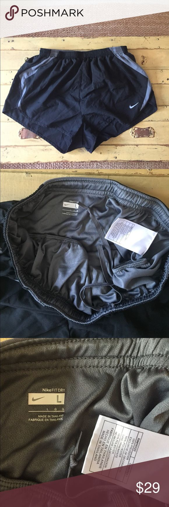 Nike fit dry black running shorts lined L Open to ALL REASONABLE offers--*Please give me your best offer and I will do my best to accommodate-no lowballing COMBINED SHIPPING DISCOUNT FOR MULTIPLE ITEMS All items come from a CLEAN, SMOKE-FREE home No modeling: Due to volume of items for sale,  I cannot accommodate modeling items-many items also for sale b/c they no longer fit me properly – thank you for your understanding with this Nike Shorts
