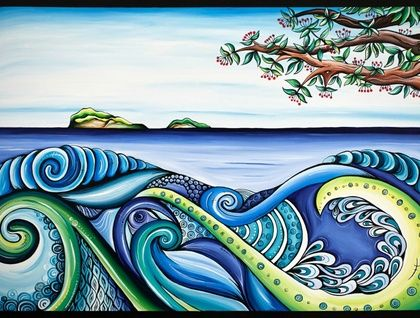 "WOW. Beautiful New Zealand Artwork. ""Tangaroa"" - Original Artwork 