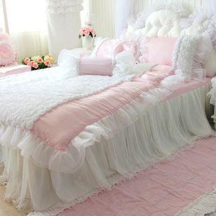Aliexpress.com : Buy Romantic piece bedding set tencel solid color rustic princess wedding kit customize lace from Reliable lace princess wedding dresses suppliers on Queen King Bedding Set . $219.00