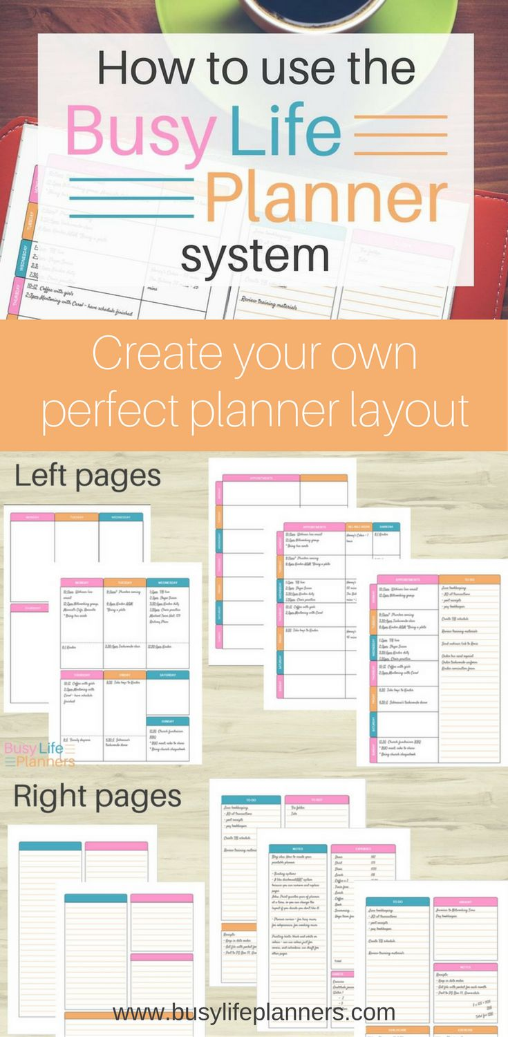 How to create your own perfect planner layout using the Busy Life Planner system.