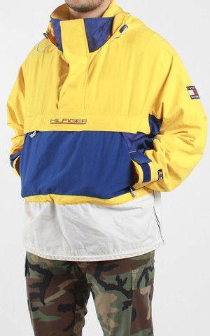 Vintage Tommy Hilfiger Hooded Pullover Jacket Sz XL