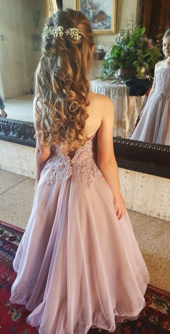 Fairytale flower girl dress and hair
