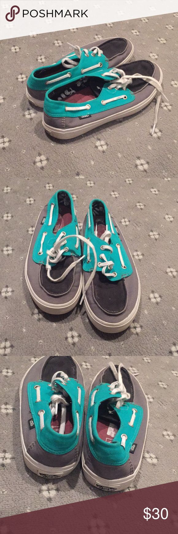 Van boat shoes Worn once! Vans Shoes Boat Shoes