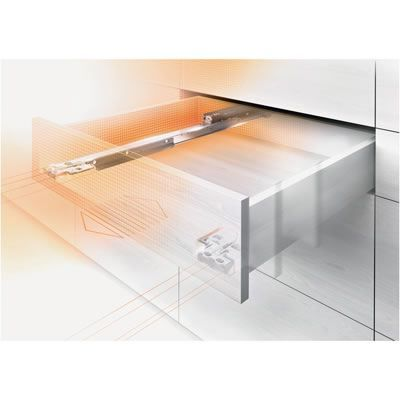 Blum Movento Drawer Runner - BLUMOTION (Soft Close) - Double Extension - 40kg - 270mm | Ironmongery Direct