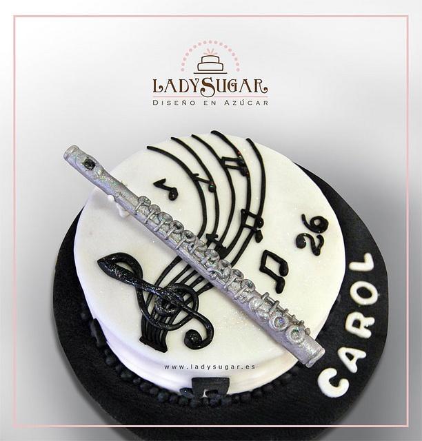 Flute music cake