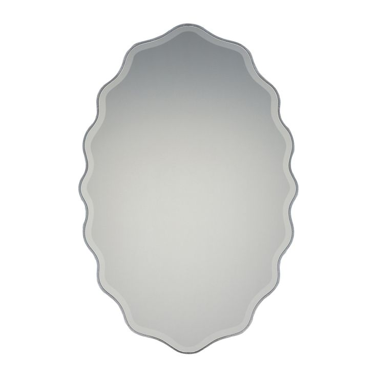Quoizel Artiste 30 x 20 Silver Beveled Oval Framed Transitional Wall Mirror