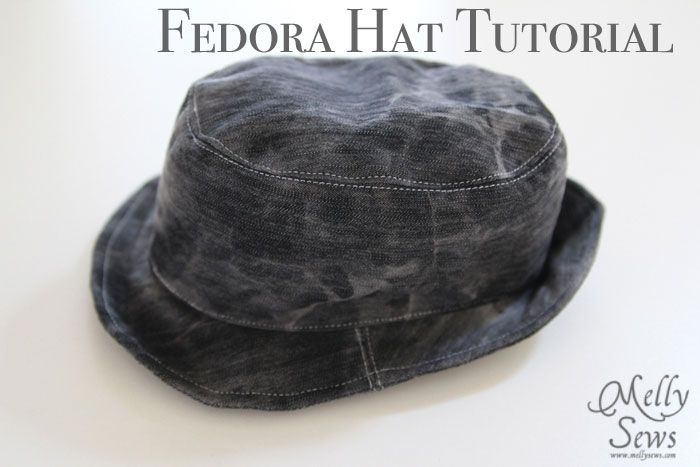 Boys fedora hat tutorial and free pattern to sew your own