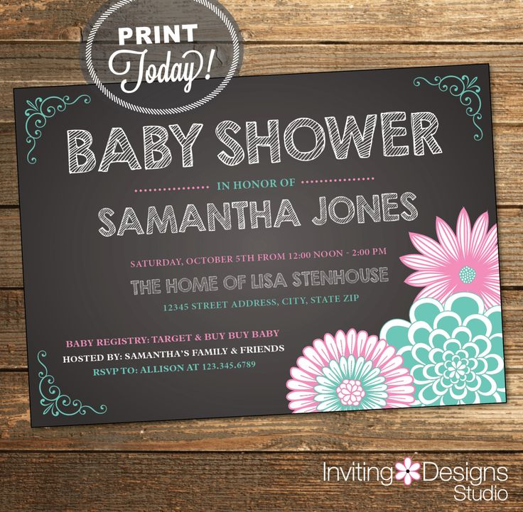 356 best Baby Shower Invitations images on Pinterest Baby shower