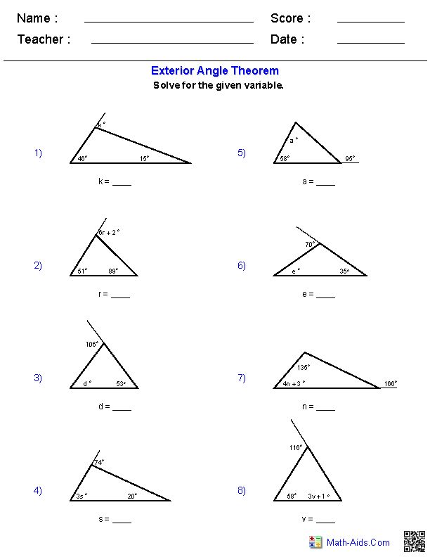 Best 25+ Exterior angles ideas on Pinterest | Angle names, All ...