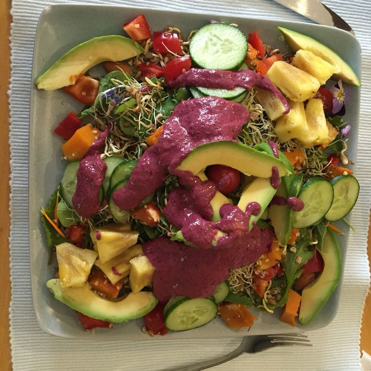 10.  Add a gorgeous, saucy dressing made with root juice, linseed, garlic, lemon.  Eat!