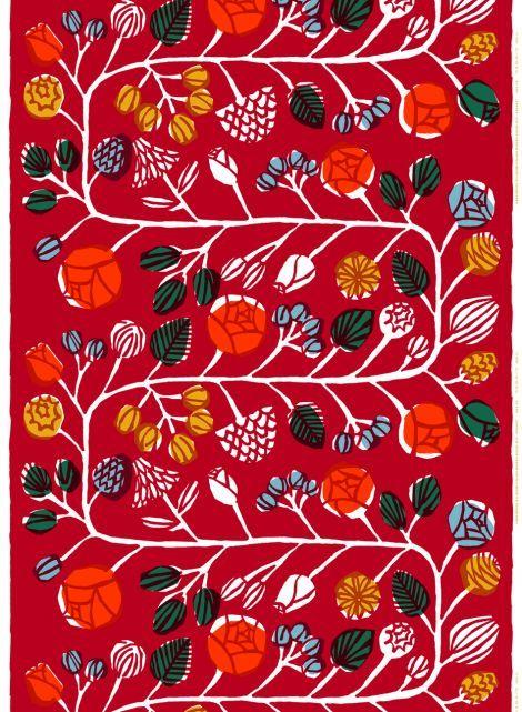 Kranssi fabric by Marimekko (design by Masaru Suzuki).