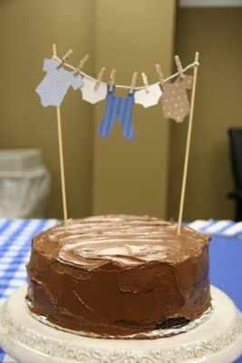 Baby Boy Shower Cake banner..so cute...but wait did you pick this cause it kind of looks like a perfectly iced great grandma cake???