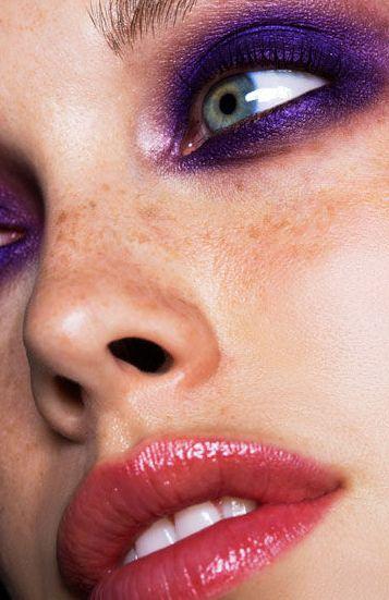 #makeupPurple Makeup, Purple Eyeshadows, Beautiful Makeup, Skin Care, Eye Makeup, Dramatic Eye, Pink Lips, Dark Purple,  Lips Rouge