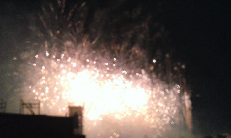 Fuochi d'artificio in Prato della Valle a ferragosto 2014 (3). #VivereArte #MichelaBusana