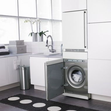 Stacked fully integrated Laundry